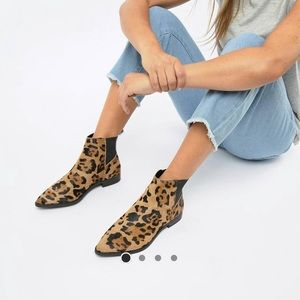 ASOS Leopard Print Chelsea Boots